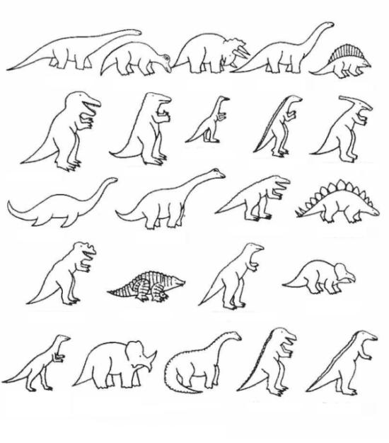Dinosaurios para colorear dibujos (2)