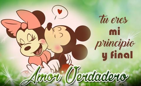 Imágenes De Mickey Mouse Y Minnie Con Frases O Para Colorear
