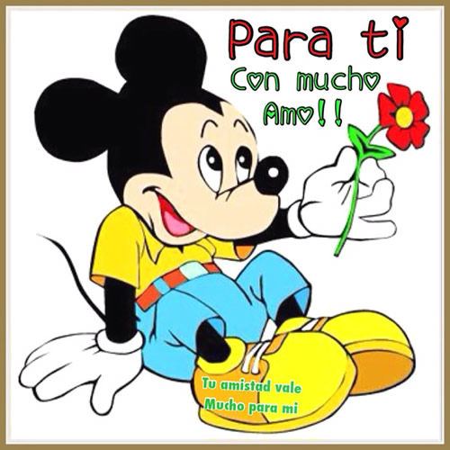 Imagenes De Mickey Mouse Y Minnie Con Frases O Para Colorear
