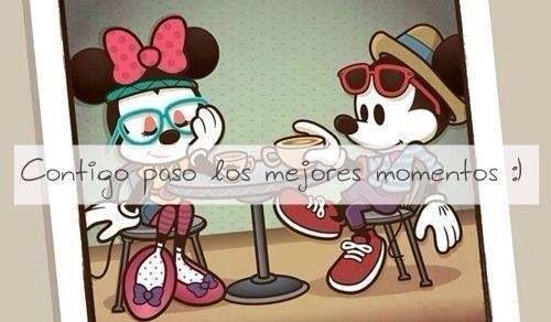Mike Y Mimi >> Imágenes de Mickey Mouse y Minnie con frases o para colorear descargar e imprimir | Información ...