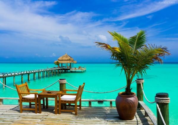 Im genes con paisajes de verano sol palmeras y playa for Hotel luxury en bacalar