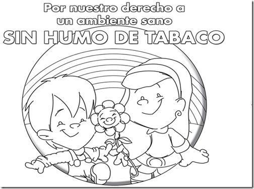 dibujos dia sin tabaco para niños (3)