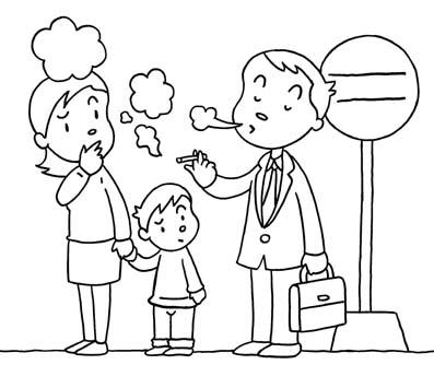 dibujos dia sin tabaco para niños (5)