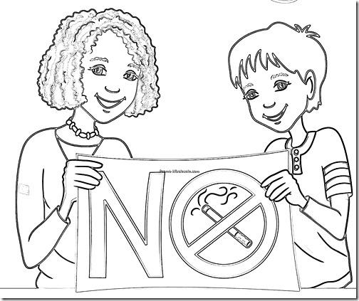 dibujos dia sin tabaco para niños (7)