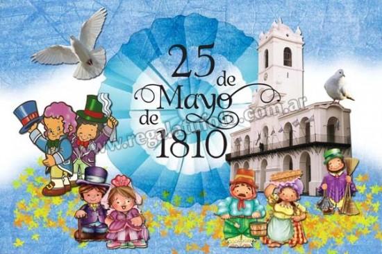 Originales dibujos animados de la Revolución del 25 Mayo