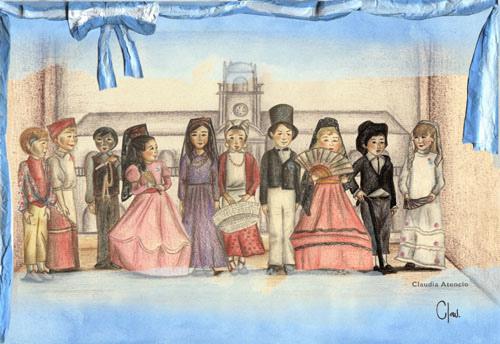 dibujos para niños  revolucion de mayo  (5)