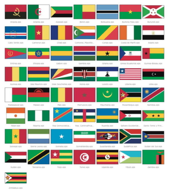 Imágenes de Banderas del Mundo: America, Europa, Africa, asia y ...