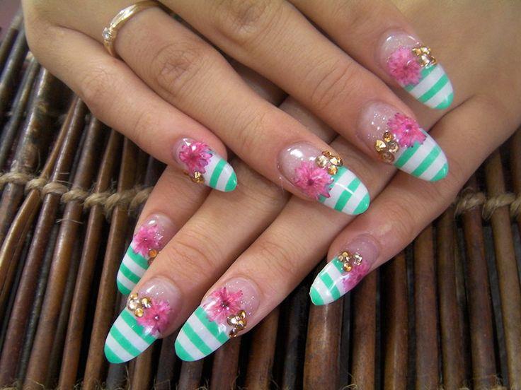 Diseños de uñas largas decoradas para manos – mejores imágenes Nail ...