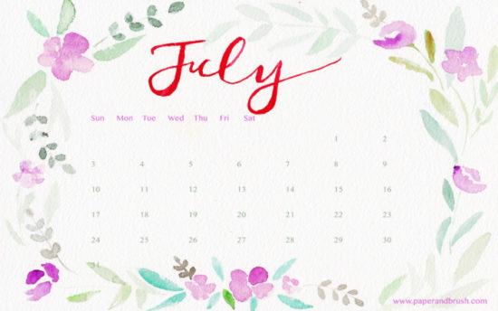 Calendario 2016 de Julio - descargar - imprimir (10)