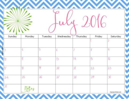 Calendario 2016 de Julio - descargar - imprimir (11)