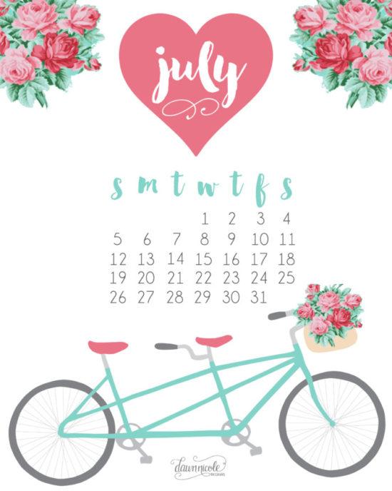 Calendario 2016 de Julio - descargar - imprimir (14)