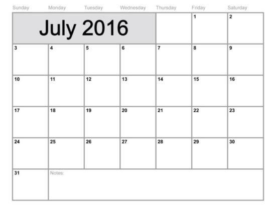 Calendario 2016 de Julio - descargar - imprimir (15)