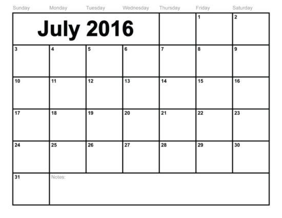 Calendario 2016 de Julio - descargar - imprimir (16)