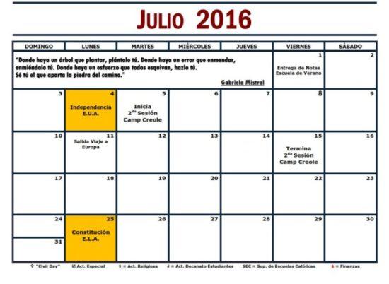 Calendario 2016 de Julio - descargar - imprimir (21)