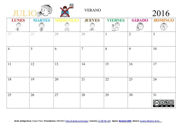 Calendario 2016 Argentina.Calendario Julio 2016 Imagenes Para Descargar E Imprimir