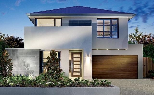 Fachadas de casas bonitas modernas de dos pisos simples for Casas pequenas estilo minimalista
