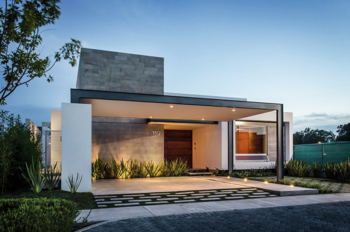 Fachadas de casas bonitas modernas de dos pisos simples for Diseno de fachadas minimalistas