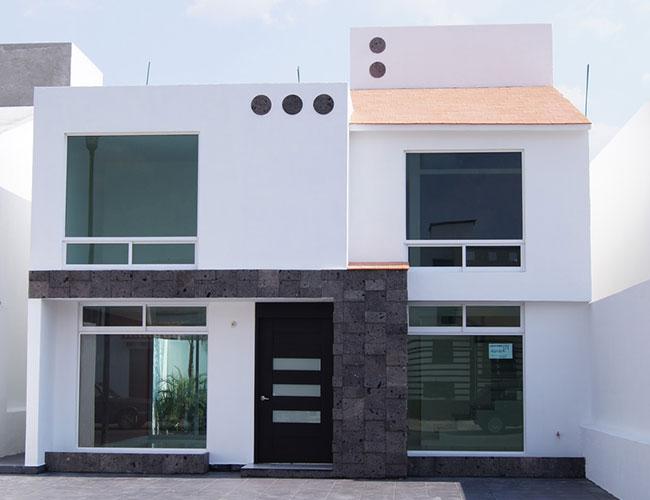 Fachadas de casas bonitas modernas de dos pisos simples for Pisos para casas estilo minimalista