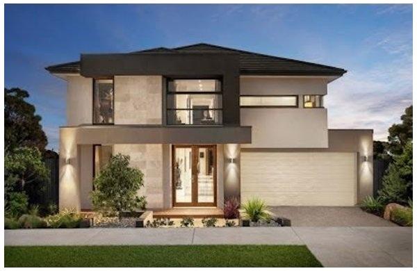 Fachadas de casas bonitas modernas de dos pisos simples for Fachadas casas de dos pisos pequenas