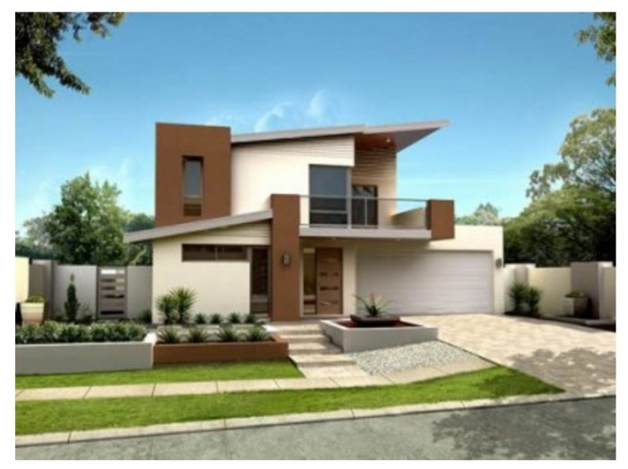 Fachadas de casas bonitas modernas de dos pisos simples for Fachadas de ventanas para casas modernas