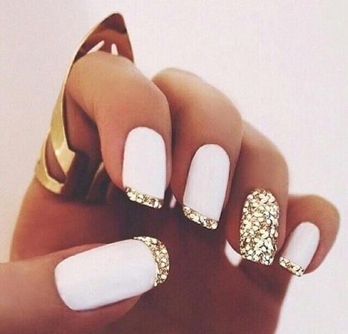 uñas-elegantes-decoradas-de-blanco