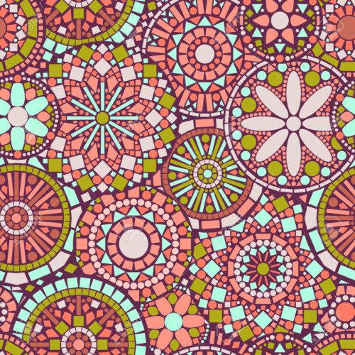 25523934-Mandalas-c-rculo-de-flores-de-colores-patr-n-transparente-en-rosa-y-verde-Foto-de-archivo