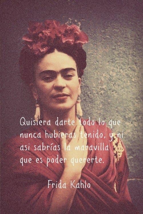Frases y poemas de Frida Kahlo  (15)