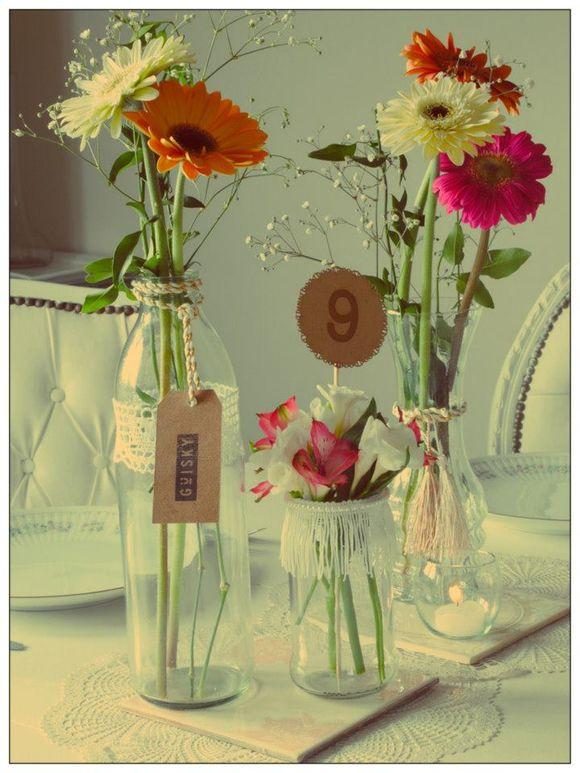 Im genes de centros de mesa para boda bautizo cumplea os - Como decorar un cristal de mesa ...