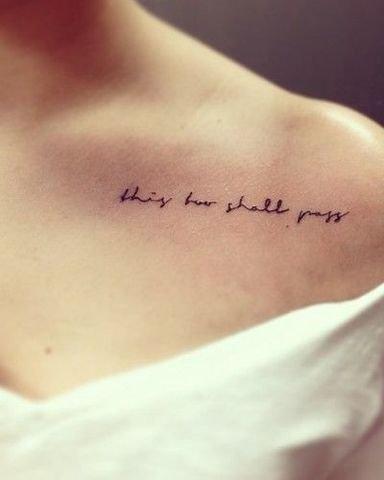 Imagenes De Tatuajes Pequenos Letras Y Frases Para Mujeres
