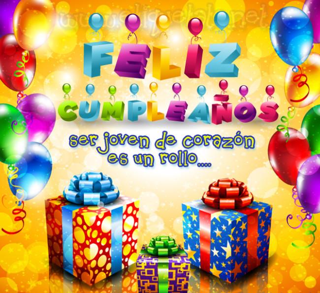 Felicitaciones de cumpleaños, Tarjetas con frases de Felíz