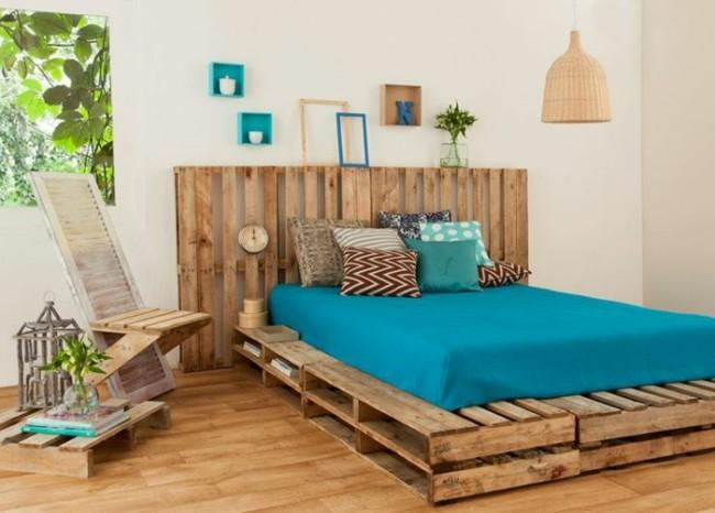Im genes de muebles con palets sofas mesas camas ideas - Cama con palets ...