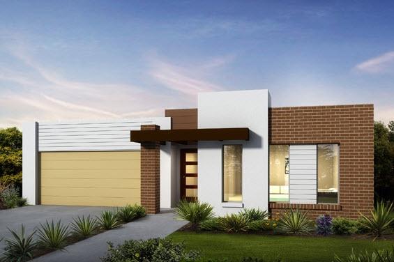60 fachadas de casas modernas de un piso y dos pisos for Fachadas de viviendas de una planta