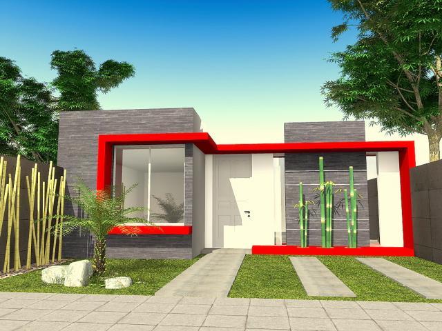 60 fachadas de casas modernas de un piso y dos pisos for Frentes de casas modernas con piedras