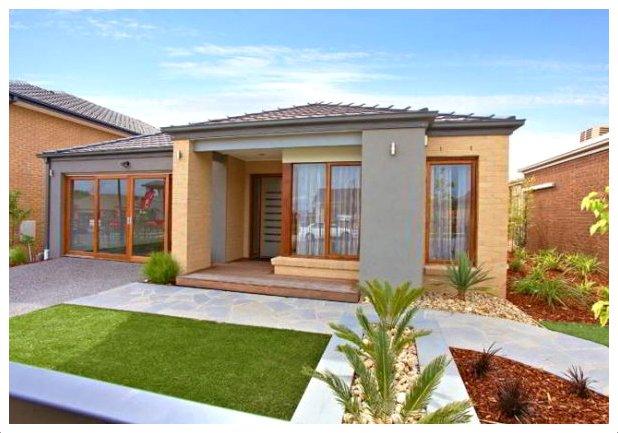 60 fachadas de casas modernas de un piso y dos pisos for Fachadas de chalets de una planta
