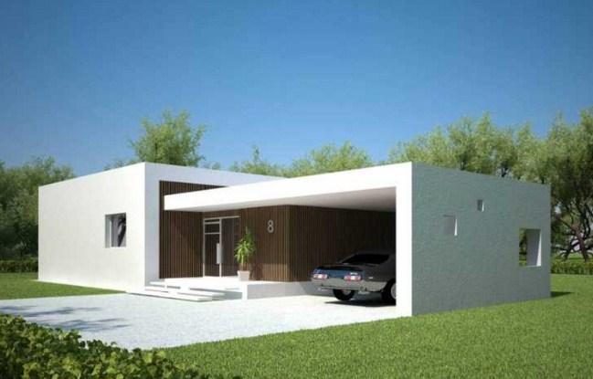 60 fachadas de casas modernas de un piso y dos pisos for Casa minimalista chica