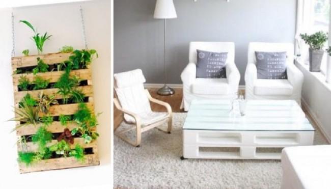 Im genes de muebles con palets sofas mesas camas ideas - Reciclar palets para jardin ...