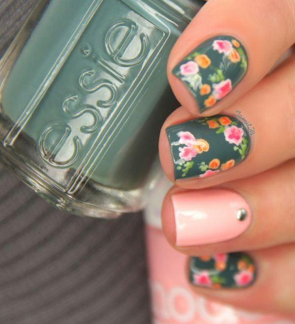Imágenes de uñas decoradas cortas con bonitos diseños   Información ...