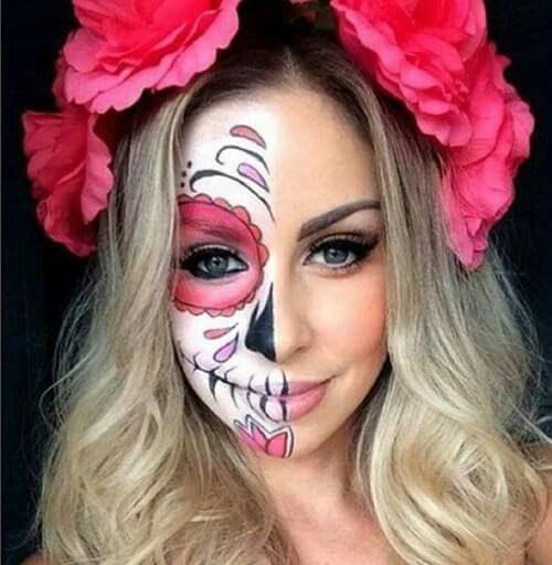 50 Imágenes Con Maquillaje De Catrina Fotos Y Videos Paso A Paso