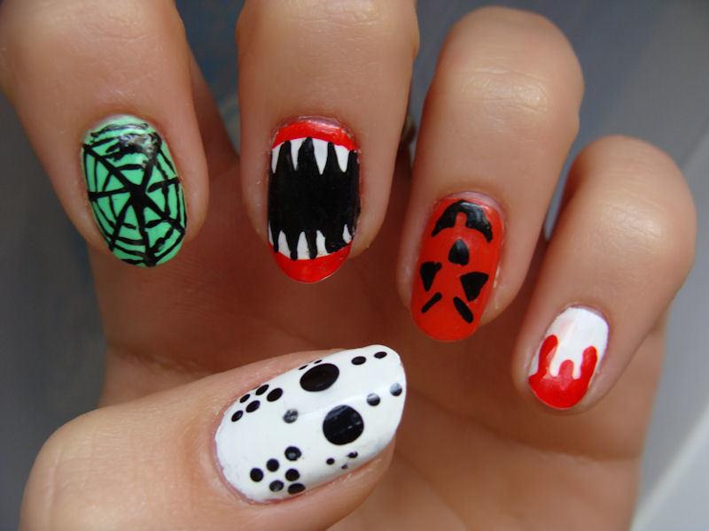 Imágenes de uñas decoradas para Halloween y Día de los Muertos ...