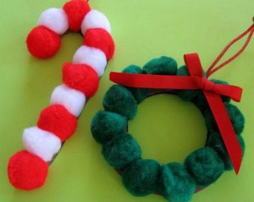 adornos-de-navidad-con-pompones-y-cartn