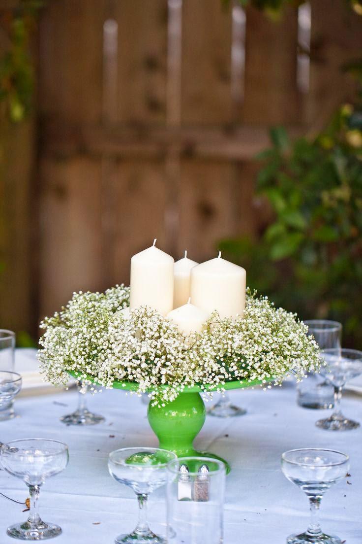 45 centros de mesa para boda con frascos botellas y velas informaci n im genes - Centro de mesas flores ...