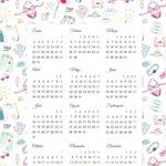 Calendarios 2017 para niños con dibujos para descargar e imprimir