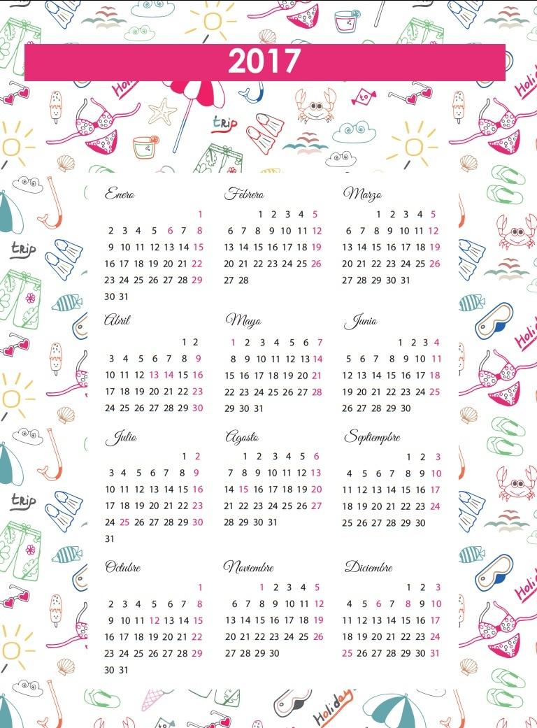 Calendarios 2017 para ni os con dibujos para descargar e - Disenos de calendarios ...