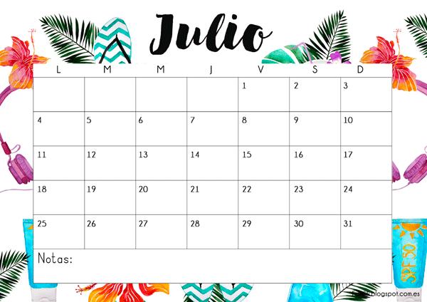 Calendarios 2017 Para Ninos Con Dibujos Para Descargar E Imprimir