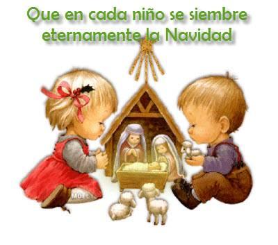 Imágenes con frases bonitas de Navidad para niños | Información imágenes