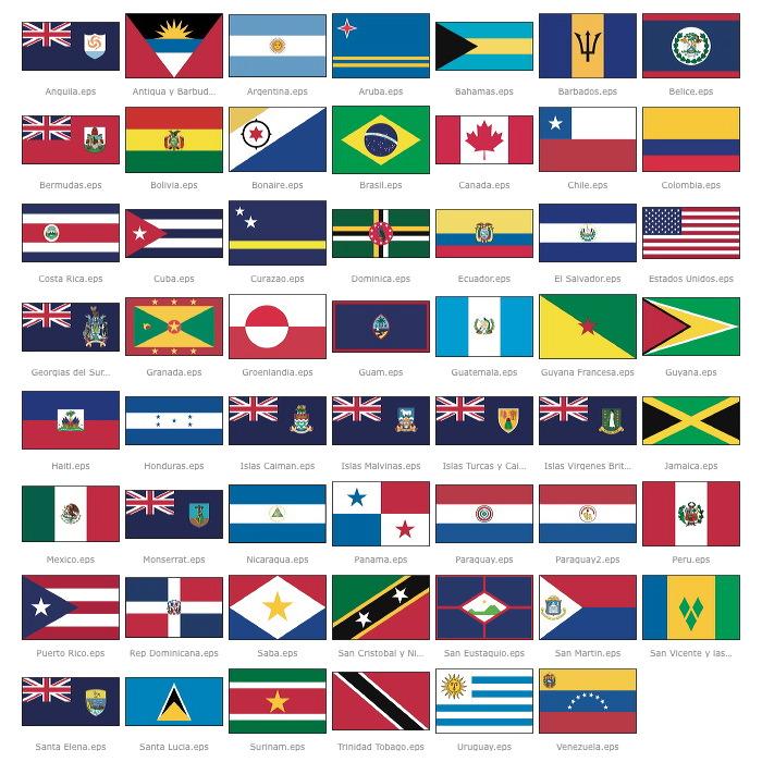 paises y sus banderas de america del sur