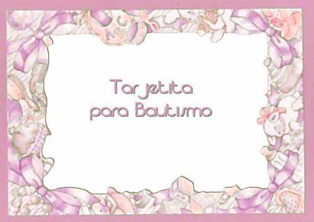 Invitaciones Para Bautizo 55 Imágenes Para Imprimir