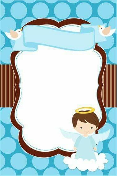 860a023a79 Invitaciones para bautizo – 55 imágenes para imprimir