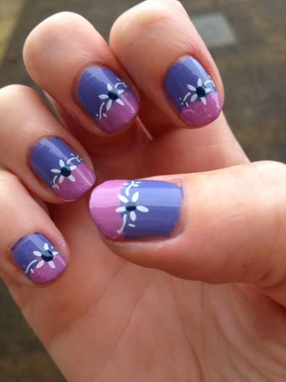 U as decoradas con flores hermosos dise os y modelos 72 - Unas modelos para pintar ...