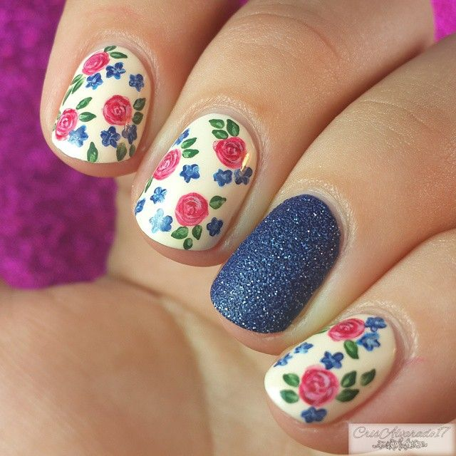 Uñas decoradas con flores hermosos diseños y modelos [72 imágenes ...